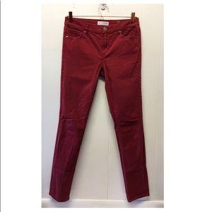 Loft    Sangria Red Modern Skinny Pants Fall Ready